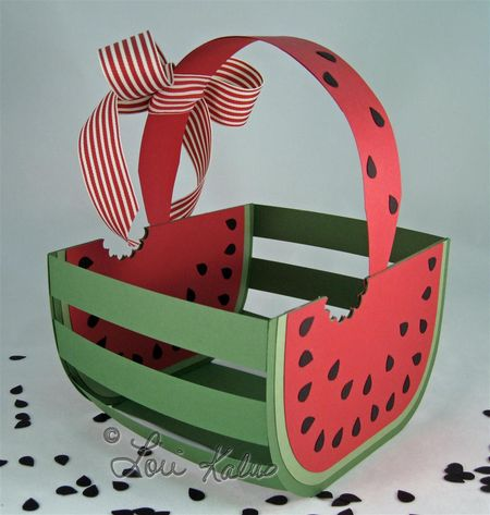 Watermelon basket and card empty 4 (Large)